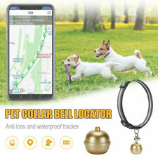Pet GPS Collar Tracker Round Dog Cat Security Anti Lost BELL Waterproof SLVER