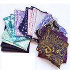 Lot 5/10/20/50 Pcs Handkerchiefs Men's Pocket Square Silk Paisley Hanky 73 Color
