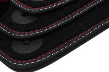 VELOURS Fußmatten für VW CADDY Original Premium Nubuk Leder Doppelnaht