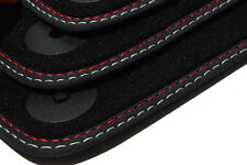 NEU Fußmatten für AUDI A4 S4 / 8K / B8 Original Premium Nubuk Leder Doppelnaht