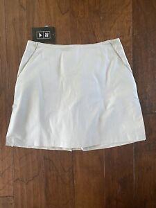 Women's Adidas Khaki Stretch Golf Skirt Size 8 NWT