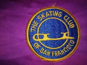VINTAGE SKATING CLUB OF SAN FRANCISCO ROUND PATCH