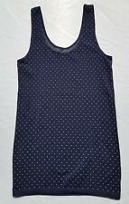 The Limited Womens Shirt Tank Top Size Medium Small Blue Polka Dot