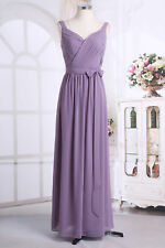 Long Formal Wedding Bridesmaid Chiffon Evening Party Prom Gown Cocktail Dress