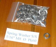 "5/16""  M8 Spring Washer Heavy Duty Rectangular Section A2 Stainless Steel pk 60"
