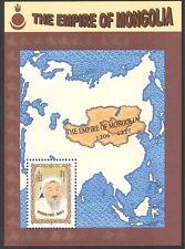 Mongolia 1997 KHANS/Empire Map/Military m/s n17814