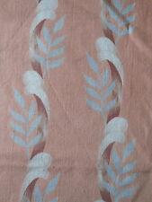 Vintage 1940's Shabby Garland of Ribbon Laurel Leaf Fabric ~Blush Apricot Gray