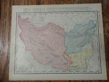 Nice colored map of Persia & Afghanistan -1907 Universal Atlas of the World