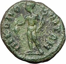 SEPTIMIUS SEVERUS Nicopolis 193AD Ancient Roman Coin Nude Hermes i28056
