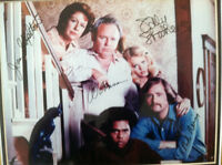 Vintage All In The Family Photo Autographed by TV Cast Framed With COA