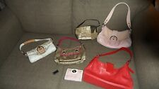 8p Coach Bags Wallet Fob Shoes Jacquard Logo Hobo Red Pink Patchwork Bumblebee