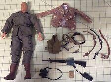 "G.I. Joe 12"" Used Soldier 2001 Century Toys Vintage Lot + Gun, Extra Cloths, +++"