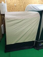New Apache Caravan Awning Tall Annexe Green/Beige Steel Frame - Fits Many Models