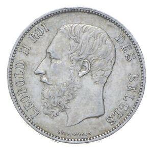 1868 Belgium 5 Francs - SILVER *422