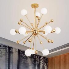 Modern Sputnik Chandeliers 12-Light Glass Metal Ceiling Fixtures Pendant Lamps