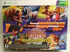 XBOX 360 Cabela's Big Game Hunter Hunting Party w/ Top Shot Sport gun NEW
