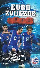 EURO STARS 2008 - LEDO ALBUM - COMPLETE 120 PLASTIC CARDS - CROATIAN EDITION