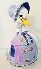 Mother Goose Cookie Jar Hand Painted by Lia