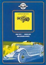 LOTUS Seven 7 S1 S2 S4 (1957 - 1970) periodo di prove su strada LIBRO