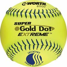 "Worth 12"" USSSA Gold Dot Extreme Slowpitch Softball (Dozen)"