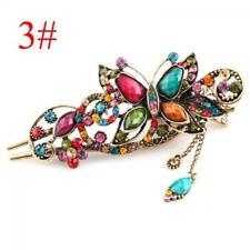 Hot 16 Styles Retro Crystal Rhinestone Bow Flower Hairpin Hair Clip Hair Stick 2#