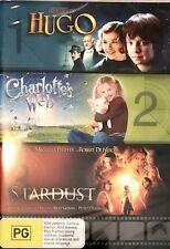 Hugo / Charlotte's Web / Stardust : NEW DVD