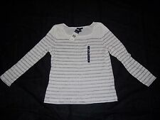 NEW WITH TAGS WOMEN'S LONG SLEEVE WHITE STRIPED SHIRT SIZE XL