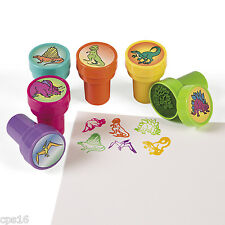 12 x  Dinosaur Stamps... Party Bag...Loot Bag...Filler...Favours...Stampers