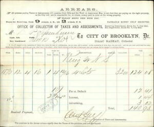 1871 New York (Brooklyn) New York (NY) Office of Collector of Taxes and Assessme