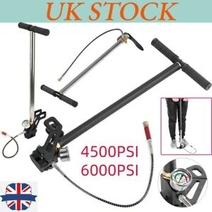 Hand Pump Air Rifle Filling Stirrup Pump 4500 PSI/6000PSI 3 Stage PCP Charging