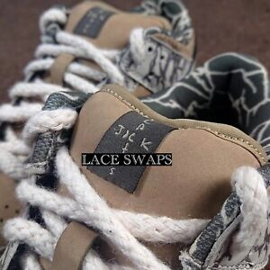 Thick Rope Mens Cactus Jack Sb Dunk Style Shoelaces Laces For Dunk Shoes