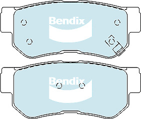 Brake Disc Pad Set Rear Bendix DB1451 GCT For HYUNDAI KIA SSANGYONG