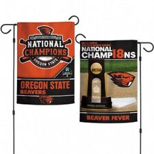 2018 National Champions Oregon State Beavers Double Sided Garden Flag
