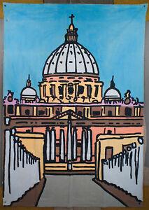 Vatican Avenue, Italy, wall art, huge art, pop art, paintings, backdrop, artwork