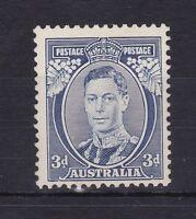 APD238) Australia 1937 KGVI 3d blue die I 'White wattles', ACSC 190