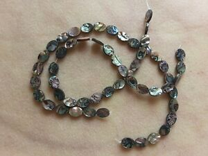 2 strand lot abalone oval beads about 14 inch.per strand