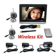 "Wireless 2.4G 2CH DVR 2Pcs IR Camera with 7""TFT-LCD Monitor Home Security System"