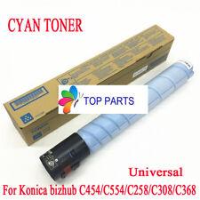 Cyan  toner for Konica Minolta bizhub C454E/C554E/C258/C308/C368 TN512 TN324