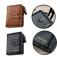 Multifunction Mens Leather Wallet Wallet Purse With neu Double Zipper Desig