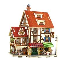 Diy Assembly Miniature Dolls House Room Wood Kit Christmas Birthday Gift Toy