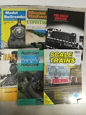 Mixed Lot Of Vintage Model Train Magazines, Model Railroader And More T60