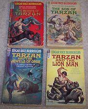 LOT OF 4 Edgar Rice Burroughs ACE F series TARZAN JEWELS OF OPAR Beasts LION MAN