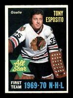 1970-71 O-Pee-Chee #234 Tony Esposito AS1 EXMT+ X1359389