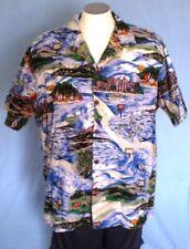 Hilo Hattie Multi-Colored 2XL Hawaiian Shirt Surfing Islands Attractions Cotton