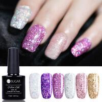 7.5ml UR SUGAR Nail Soak Off UV Gel Polish Holographics Glitter Sequins Nail Art