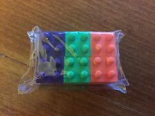 Pack of 6 Lego Themed Erasers / Rubbers - New