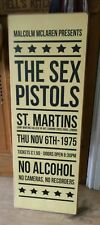 The Sex Pistols St Martin Music Concert WOODEN SIGN POSTER WALL PLAQUE HANDMADE