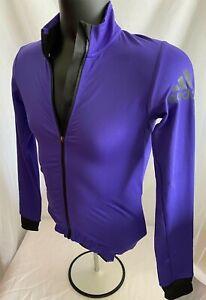 SZ S | NWT $120 Adidas Climaheat Full Zip Cycling Winter Jacket Purple | BR7815