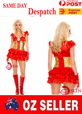 Women Super  Hero Iron Man Movie Costume Cosplay Fancy Dress Up Halloween 10-12