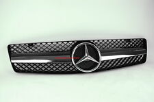 R129 1992-2000 SL-CLASS 1 FIN BLACK GRILLE SL500 FRONT SPORTS GRILL + AMG STYLE